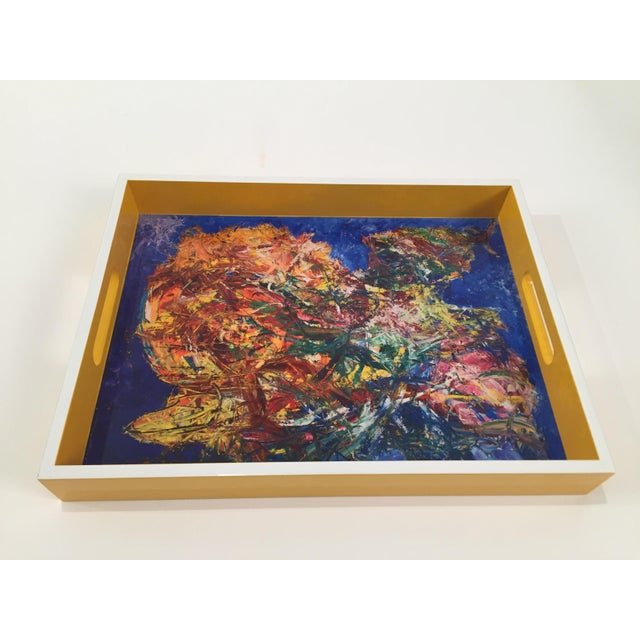 Bruce Mishell Collections Lacquer Tray For Sale - Image 4 of 4