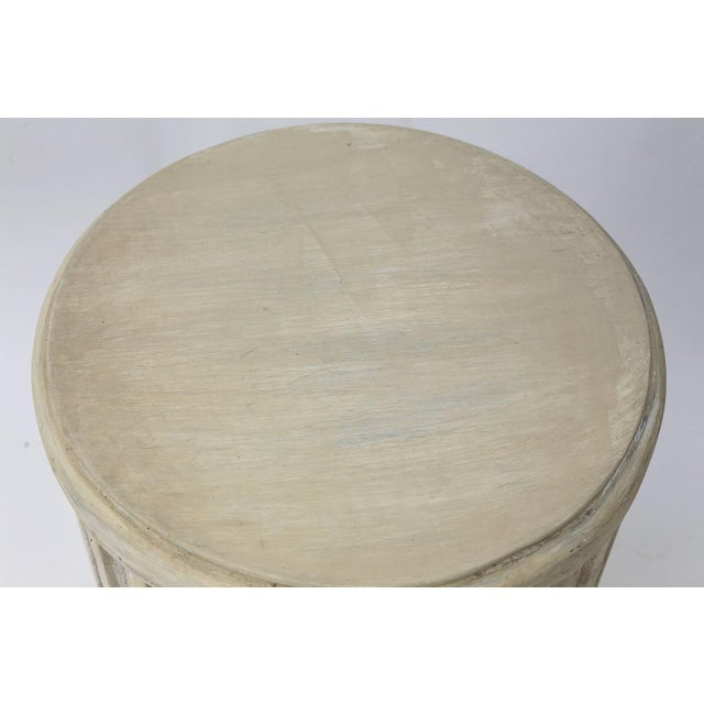 Painted Pedestal Table For Sale - Image 10 of 12