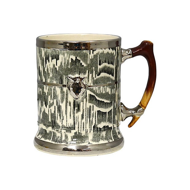 "1930s Silver Shield ""Faux Bois"" Tankard For Sale - Image 4 of 4"