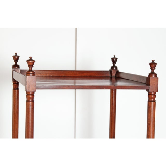 George III Four-Tier Mahogany Whatnot With Drawer For Sale - Image 9 of 13