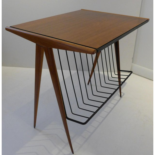 The Elton Company Side Table with Magazine Rack by Arthur Umanoff For Sale - Image 4 of 9
