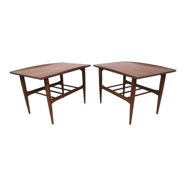 Surfboard Side Tables by Bassett Furniture Co., a Pair For Sale