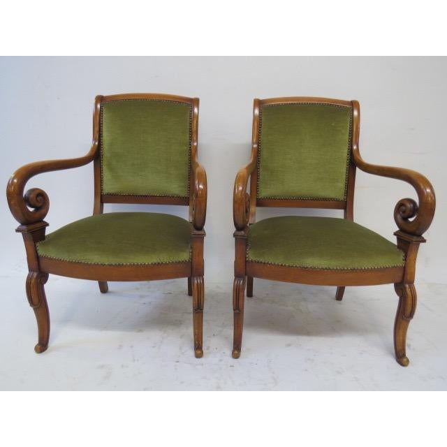 Green Director Chair With Curved Arms For Sale - Image 8 of 10