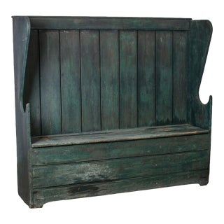 American Painted Settle, C.1800 For Sale