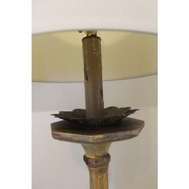 Baroque Baroque Italian Style Gilt Wood Floor Lamp For Sale - Image 3 of 12