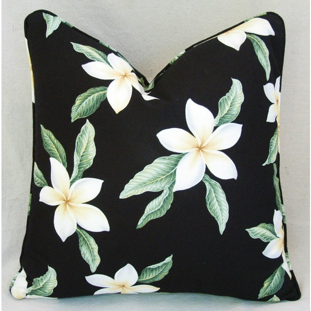 Custom Tropical Blossom Barkcloth Pillows - A Pair - Image 10 of 10