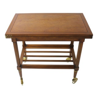 Mid Century Walnut Server Bar Cart