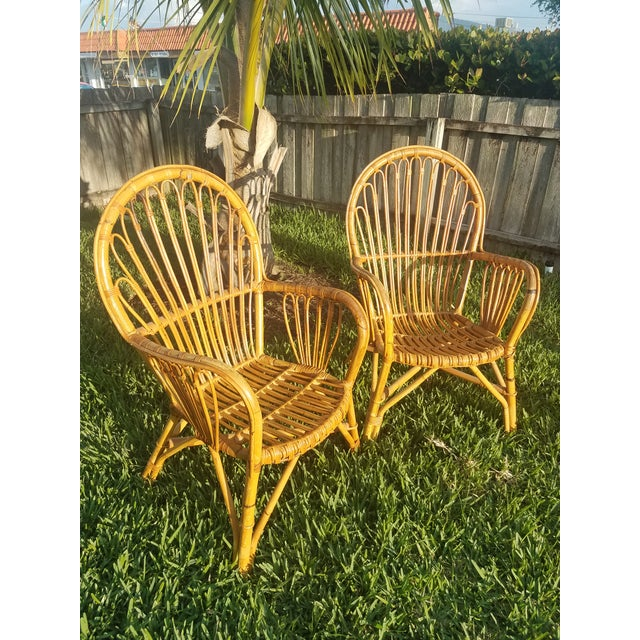 Vintage Rattan Chairs - A Pair - Image 2 of 5