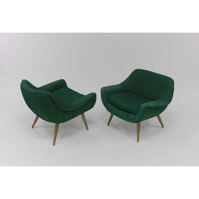 Lawrence Peabody Pair of Sculptural Lounge Chairs by Lawrence Peabody for Selig For Sale - Image 4 of 9