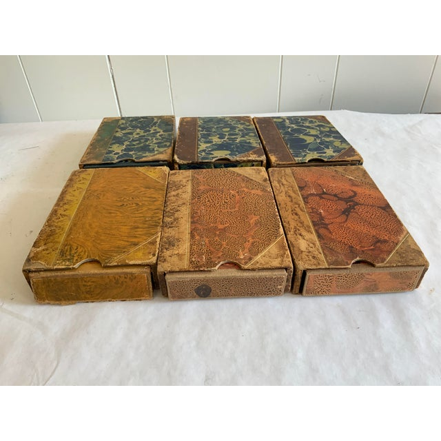 Paper Antique Italian Faux Book Boxes For Sale - Image 7 of 8