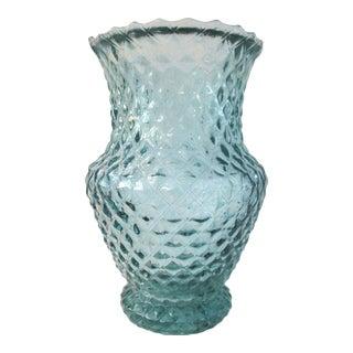 Mid-Century Spanish Sky Blue Glass Vase For Sale