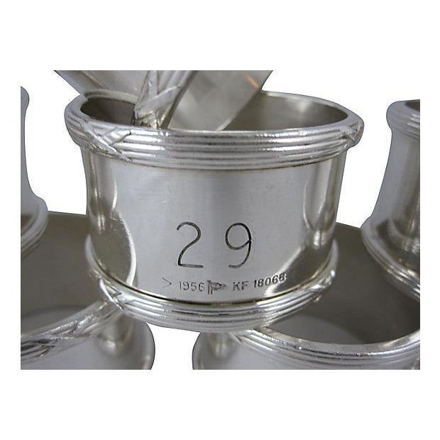 English Silver Plate Napkin Rings - Set of 8 - Image 3 of 8
