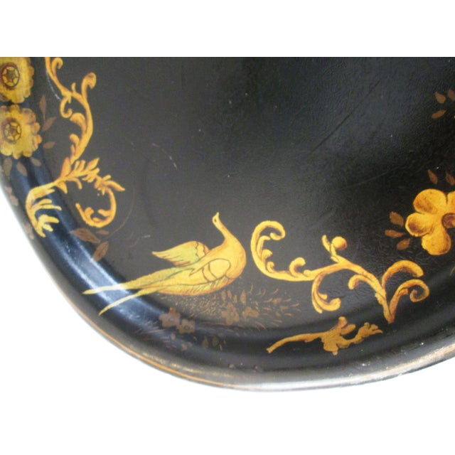 Mid-Century Pheasant & Floral Tray - Image 5 of 5