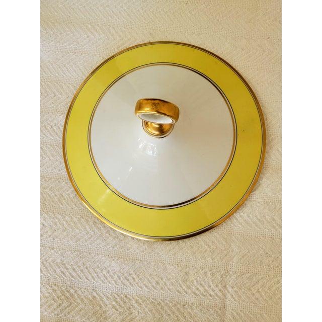 Metal Italian Richard Ginori Yellow Tureen For Sale - Image 7 of 9