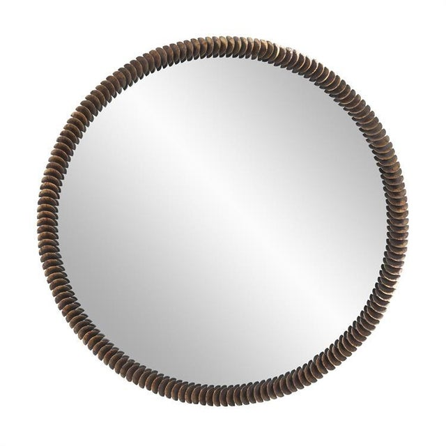 Kenneth Ludwig Coined Copper Mirror For Sale In Chicago - Image 6 of 6