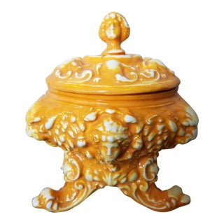 Italian Majolica Covered Vessel For Sale