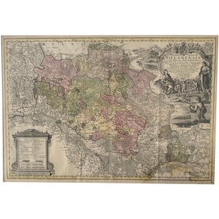 18th. Century Map of Silesia For Sale