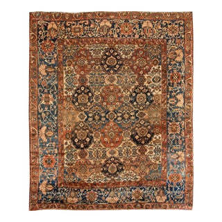 Early 20th Century Persian Bakhtiary Rug 13 X 15 For Sale