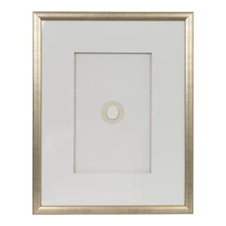 Framed Vintage Intaglio in Champagne Silver Frame For Sale