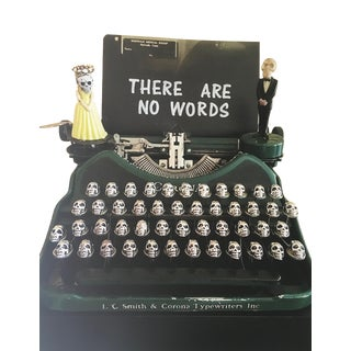 Nina Bentley There Are No Words, Limited Edition Photograph, Typewriter, Skulls, Framed 2017 For Sale