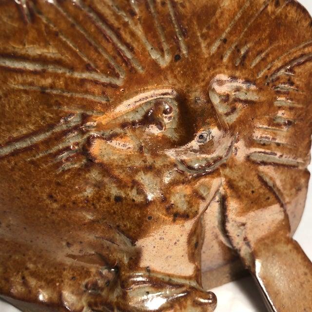Brown Vintage Ceramic Cat Sculptures Signed 2 For Sale - Image 8 of 10