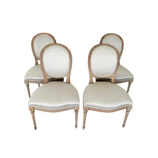 19th Century Antique Louis XVI Medallion Chairs - Set of 4 For Sale