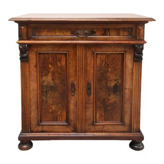 Biedermeier Style Walnut Cabinet, Germany, 1890 For Sale