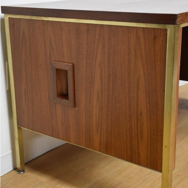Walnut Executive Desk - Image 4 of 11