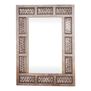 Lovely Moorish Inlaid Mirror For Sale
