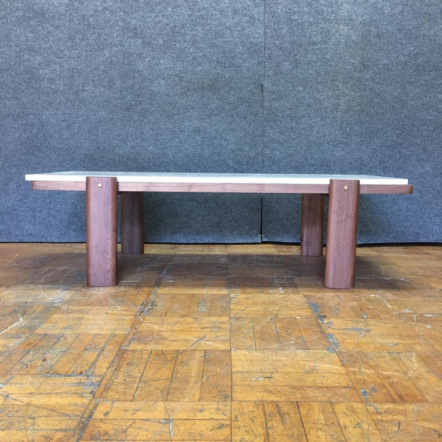 Walnut & Marble Coffee Table - Image 5 of 9