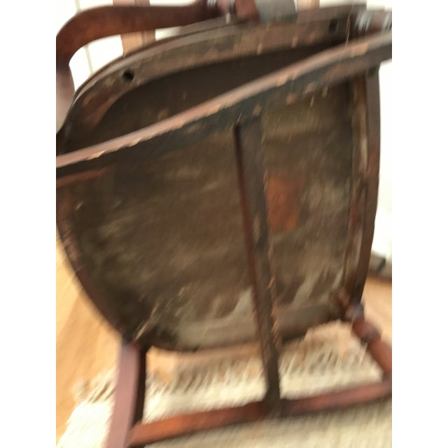 Wood Antique Ivan Allen Marshall Co Atlanta Wood Library Office Accent Chair For Sale - Image 7 of 12