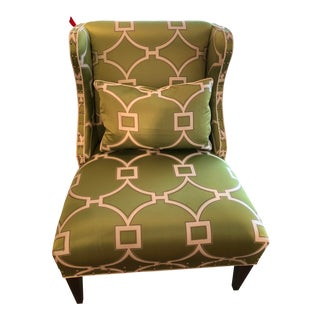 Early 21st Century Green Slipper Chair