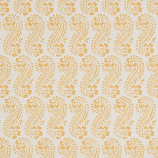 Sample - Schumacher x Molly Mahon Lani Wallpaper in Gold For Sale