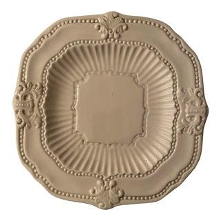 American Atelier Baroque White Dinner Plate For Sale