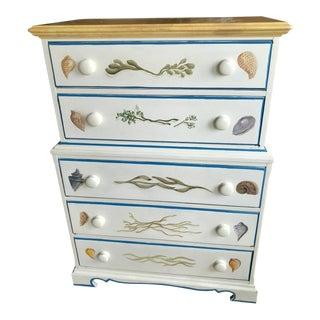 Seaside Motif Wooden 5-Drawer Dresser For Sale
