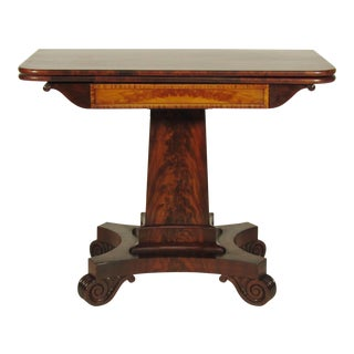 19th Century American Empire Card Table For Sale