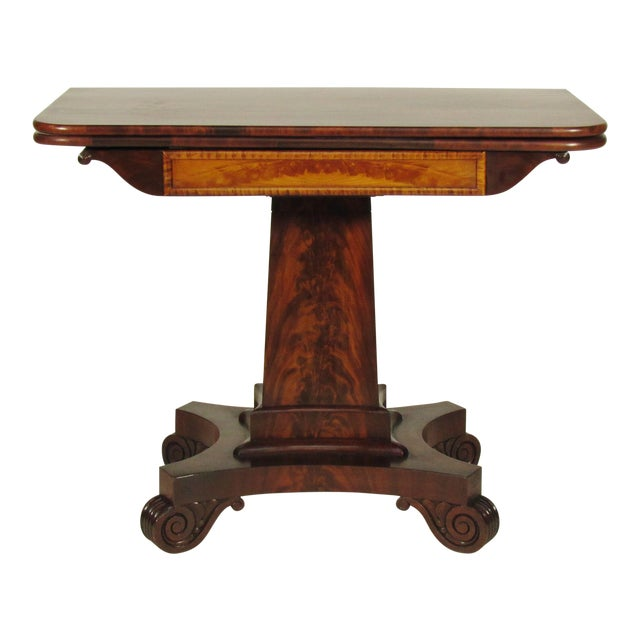 19th Century American Empire Card Table - Image 1 of 11