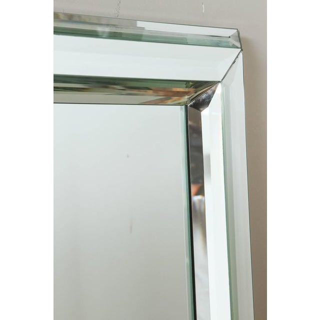Mid-Century Modern Large All-Glass Wall Mirror For Sale - Image 3 of 7