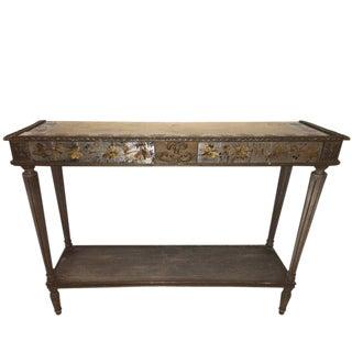 Maison Jansen Louis XVI Style Églomisé Console Table For Sale