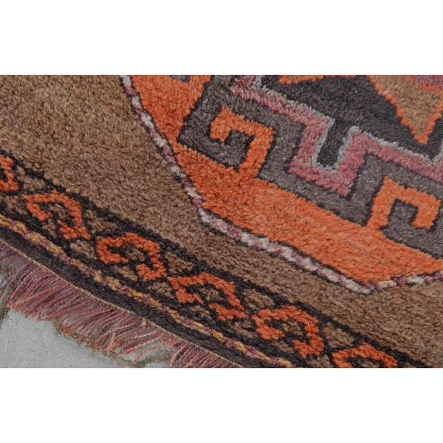 Hand Knotted Turkish Runner Rug - 3′11″ × 10′9″ - Image 3 of 10