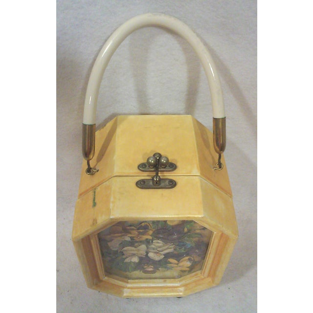 Bakelite Flora Box Purse - Image 6 of 7
