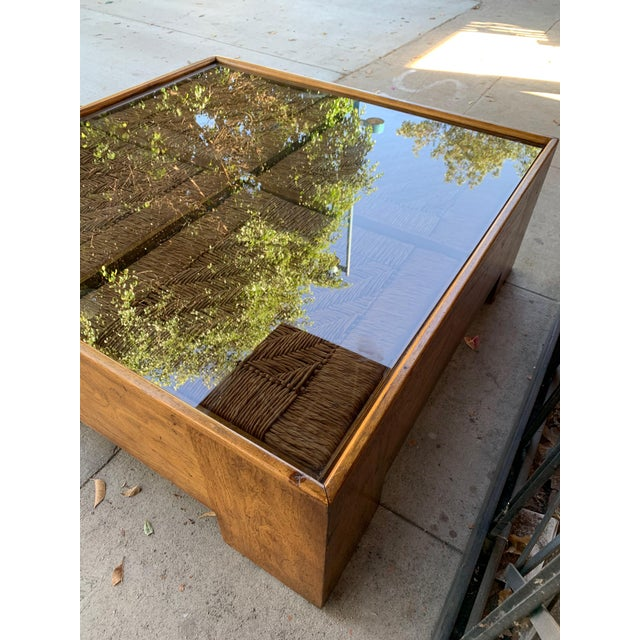 Brown 1960s Mid Century Modern Drexel Heritage Wood Briar Coffee Table For Sale - Image 8 of 13