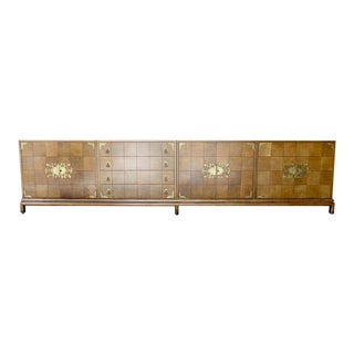 Monumentally Scaled Midcentury Credenza Designed by Renzo Rutili, Circa 1960 For Sale