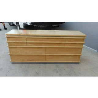 Jay Spectre for Century Furniture Limed Oak 7 Drawer Credenza of Chest Preview