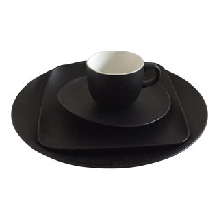 Ariane Black Fine Porcelain Coffee Serveware - Set of 4