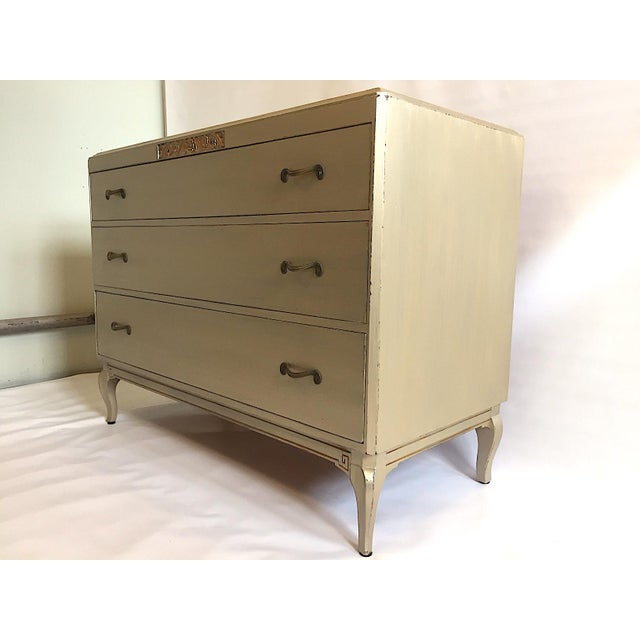 Art Deco Art Deco Rway Vintage 1930s Metallic Chest of Drawers For Sale - Image 3 of 11