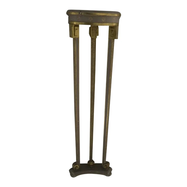 Narrow Demilune Table and Sconce For Sale