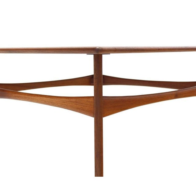 Wood Danish Mid-Century Modern Teak Square Coffee Side Table For Sale - Image 7 of 8