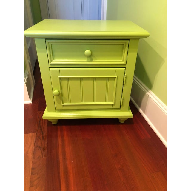 2010s Stanley Michaels Lime Green Table For Sale - Image 5 of 5