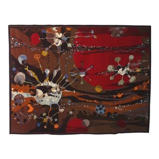 "Robert Wogensky Signed Aubusson Tapestry ""Serpent d'Etoile"", France, 1965"